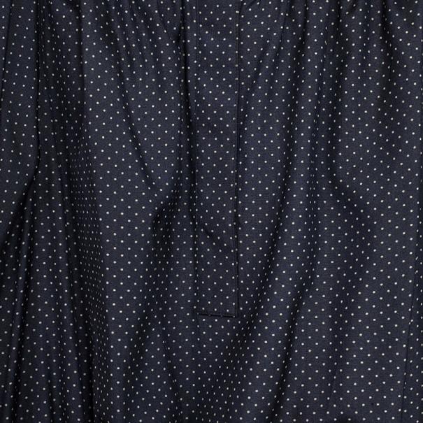 Saint Laurent Paris Silk Georgette Polka Dot Top M