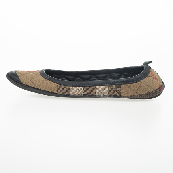 Burberry Nova Check Quilted Ballet Flats Size 37