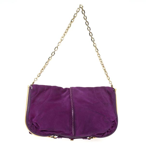 Jimmy Choo Suede Chain Strap Bag