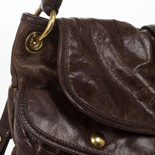 Miu Miu Dark Brown Coffer Bag