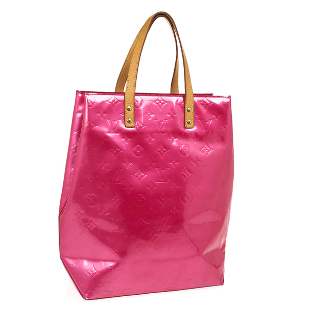 Louis Vuitton Pink Monogram Vernis Reade GM Tote Bag