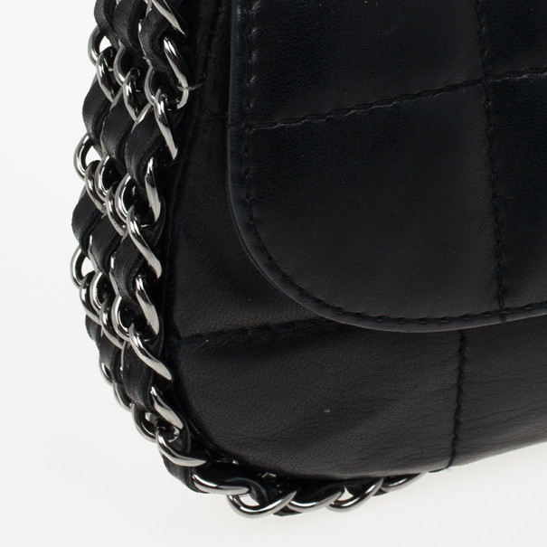 Chanel Black Leather Multi Chain Classic Flap Bag