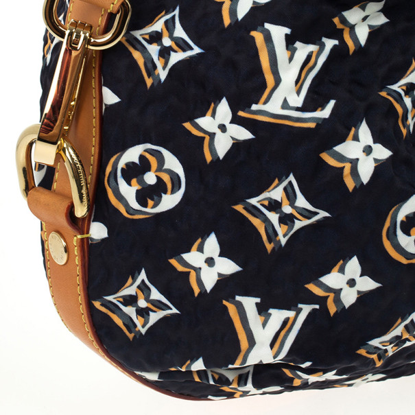 Louis Vuitton Limited Edition Navy Blue Nylon Bulles MM Bag