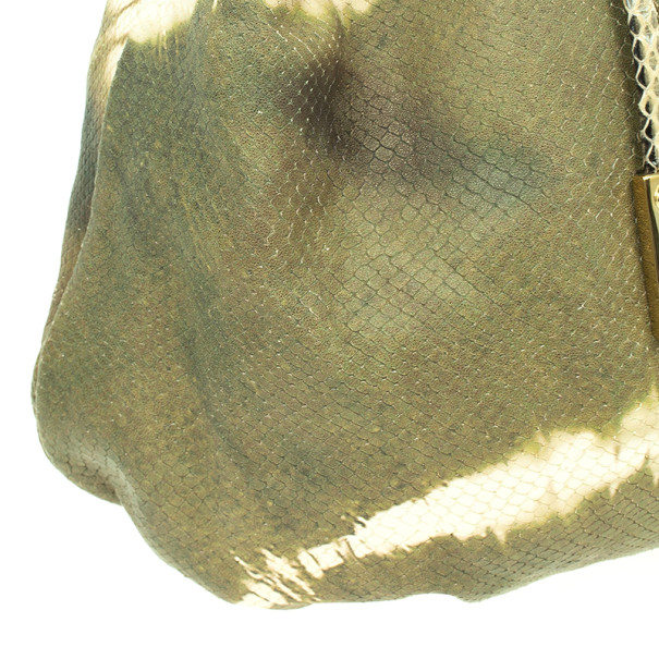 Jimmy Choo Tie Dye Embossed Python Robin Bag