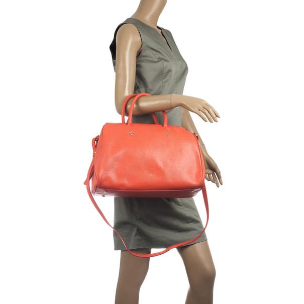 Furla Coral Leather 'Arianna' Satchel