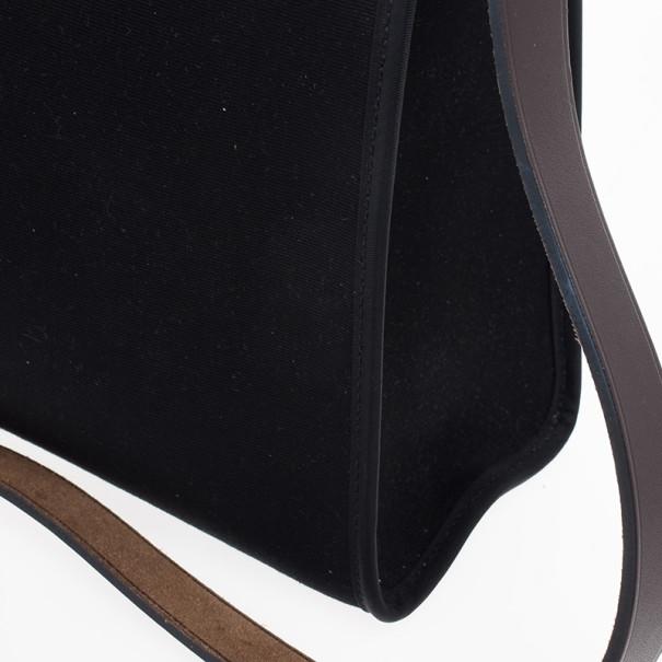 Hermes Black Herbag Convertible Satchel