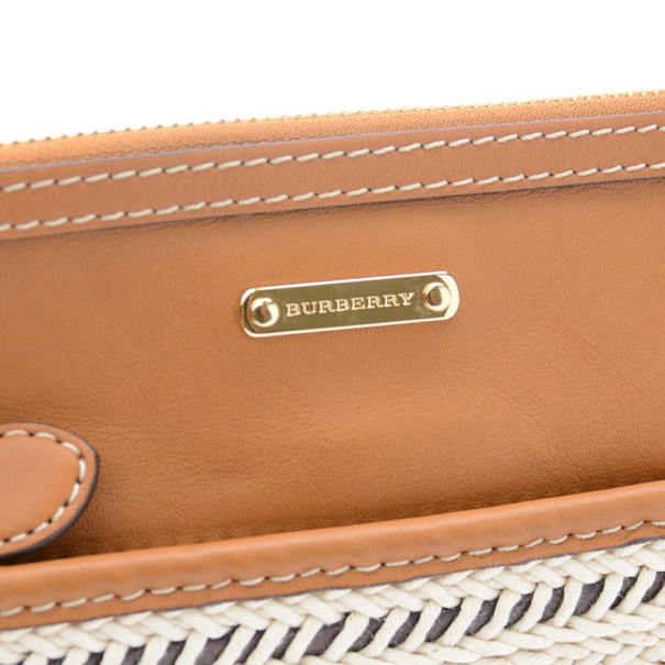 Burberry Calf Leather Rope Webbing Fuller Wristlet