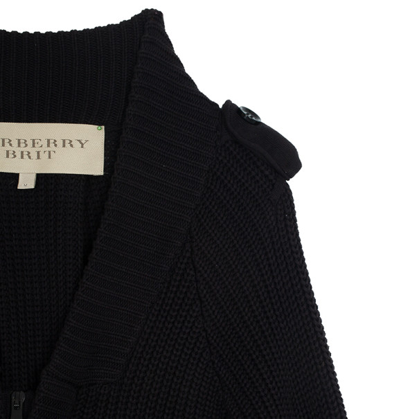 Burberry Zip Up Knit Sweater M