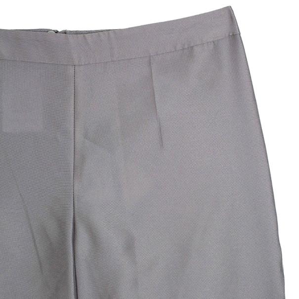 Giorgio Armani Grey Silk-blend Pants S