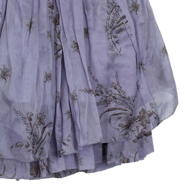 Prada Lilla Ruffle Cotton Dress M