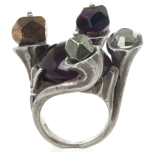 Yves Saint Laurent Shadow Crown Ring Purple Size 49