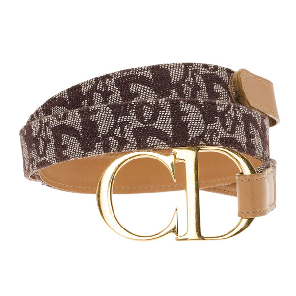 Dior Brown Diorissimo CD Buckle Belt 80CM