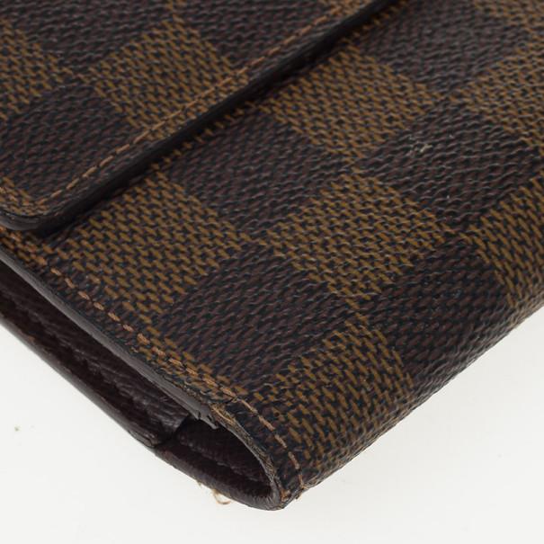 Louis Vuitton Damier Ebene Canvas International Wallet