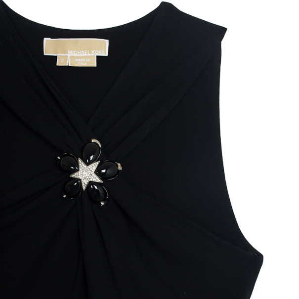 Michael Kors Collection Black Embellished Top S
