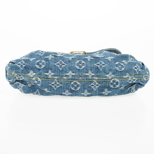 Louis Vuitton Blue Denim Monogram Mini Pleaty Bag