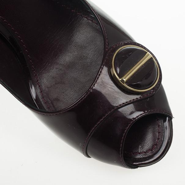 Louis Vuitton Amarante Sloane Slingback Sandals Size 37.5