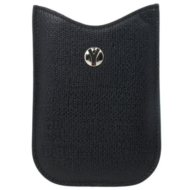 Yves Saint Laurent Black Leather Ycon Blackberry Cover