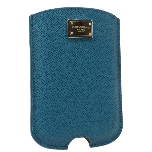 Dolce and Gabbana Blue Dauphine Leather Blackberry Cover