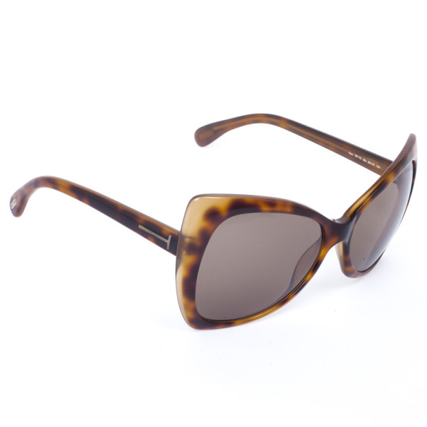 Tom Ford Leopard Frame Retro Inspired Nico Womens Sunglasses