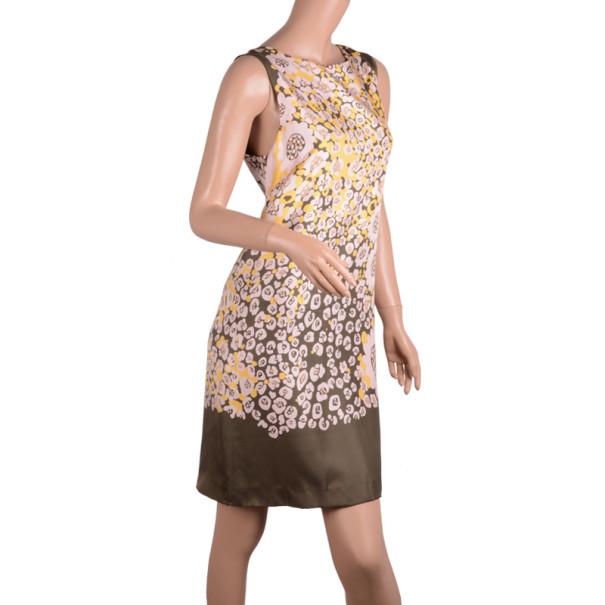 RED Valentino Floral-Print Silk-Twill Dress M