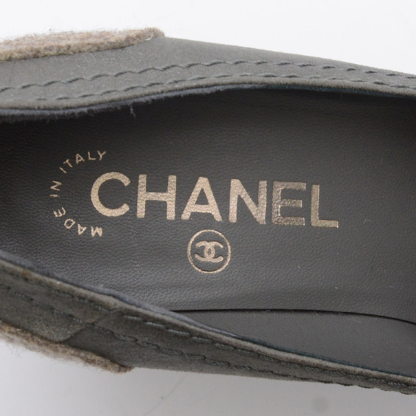 Chanel Cap Toe Wedge Pumps Size 37