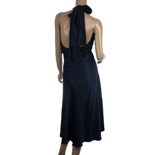 Diane Von Furstenberg Satin William Cocktail Dress L