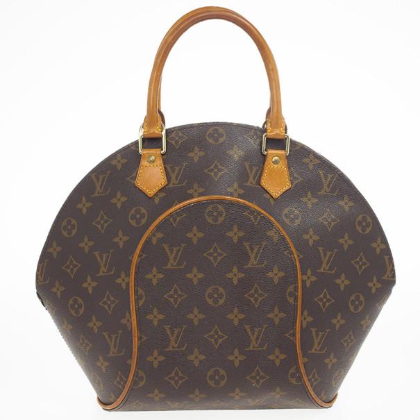 Louis Vuitton Monogram Canvas Ellipse MM Shoulder Handbag