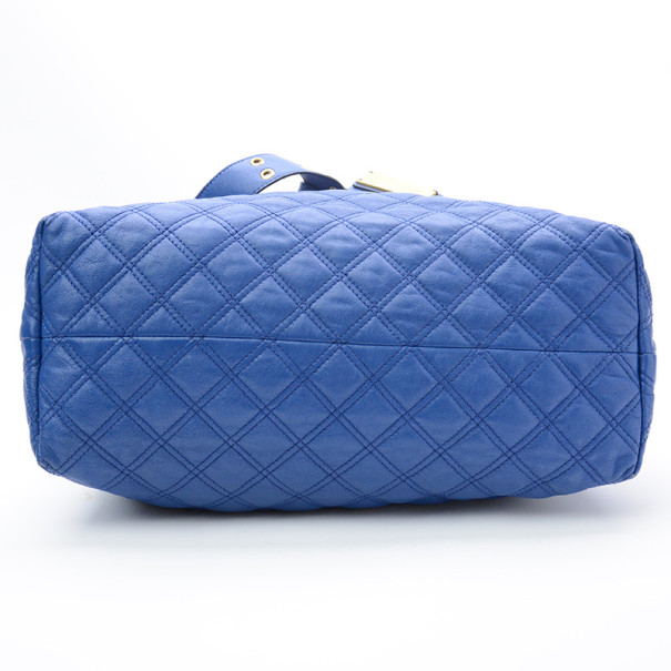 Marc Jacobs Blue Quilted Leather Bruna Tote