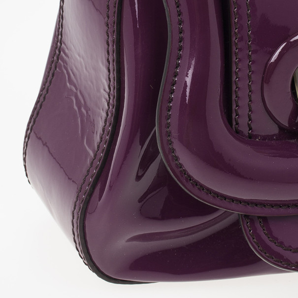 Fendi Purple Patent Leather B Bag