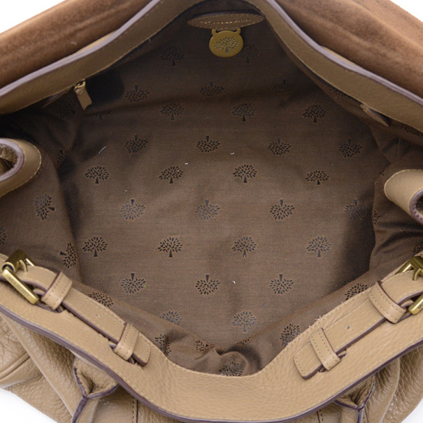 Mulberry Pebbled Beige Bayswater Tote