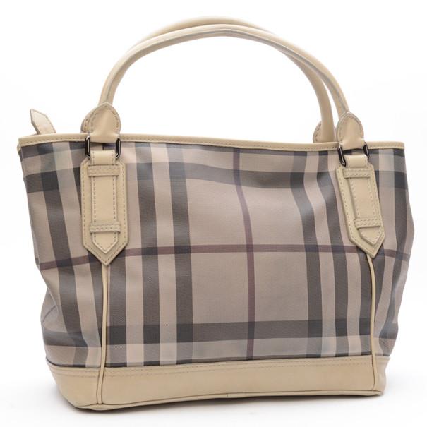 Burberry Medium Smoked Check Tote Bag