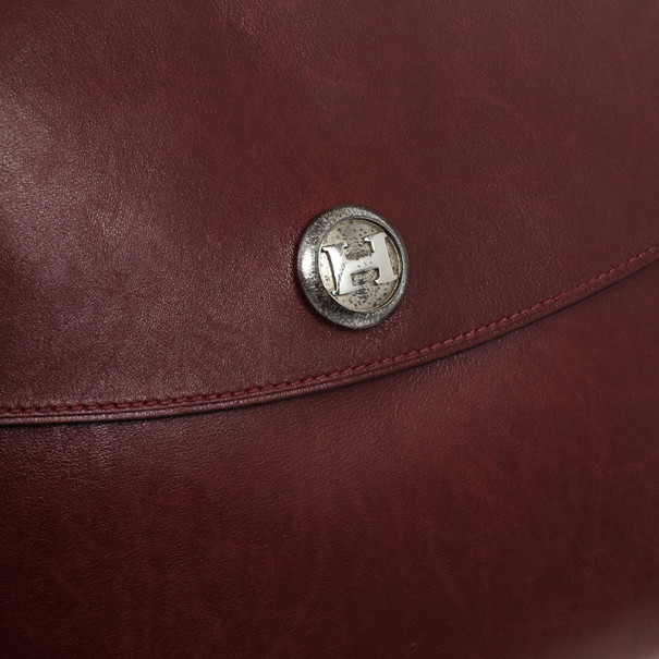 LC - Buy \u0026amp; Sell - Hermes Vintage Burgundy Box Calf Leather Rio Clutch