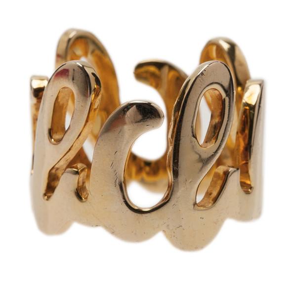 CH Carolina Herrera Gold-Tone Ring Size 56