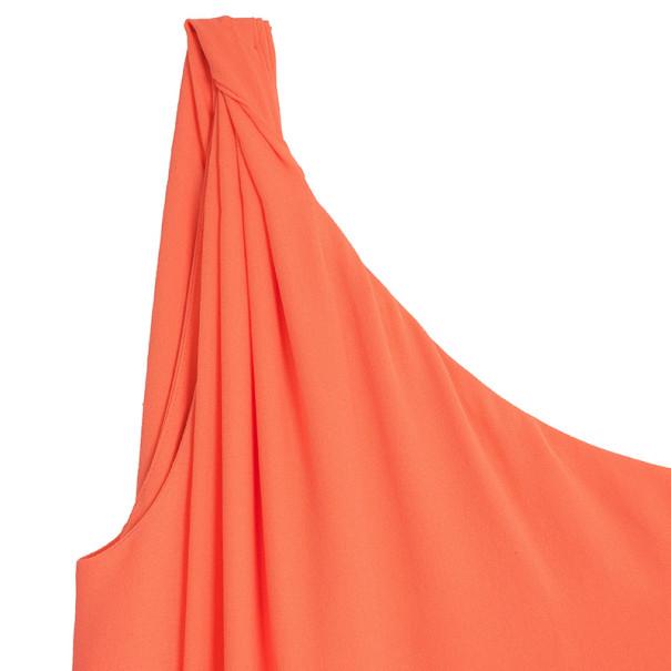 Diane Von Furstenberg Liluye One-Shoulder Crepe Wrap Dress M