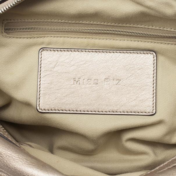 Dolce and Gabbana Metallic 'Miss Biz' Dome Satchel