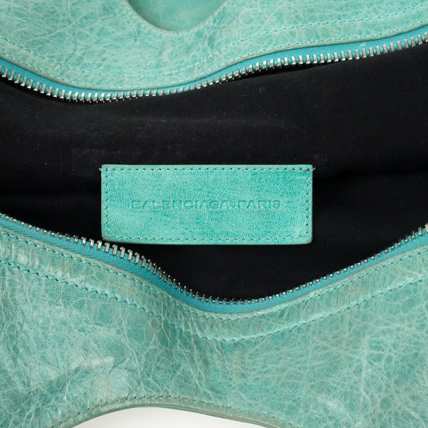 Balenciaga Green Lambskin Giant Folder Bag