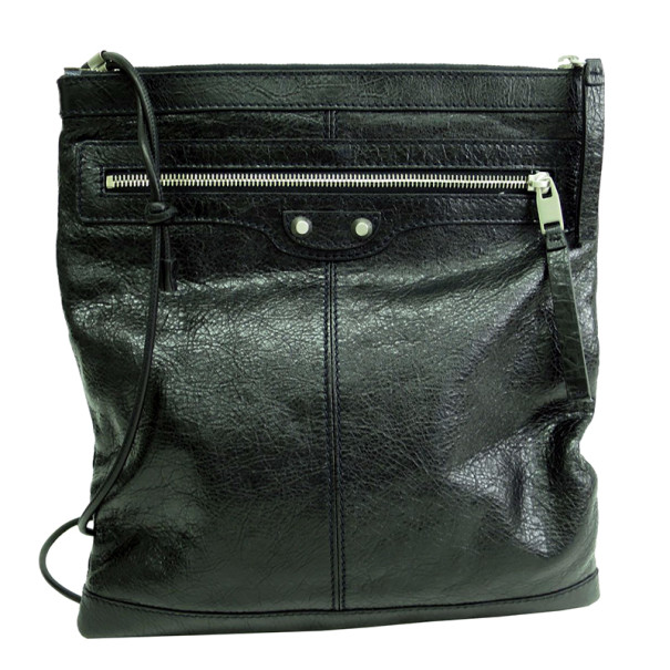 Balenciaga Black Leather Shoulder Bag