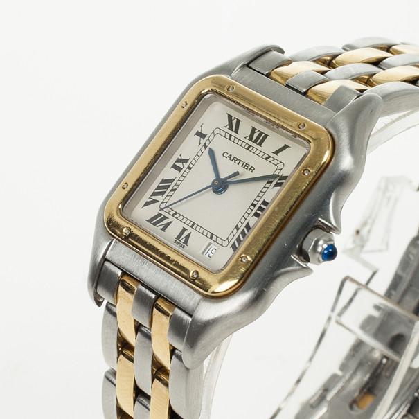 Cartier Tank Stainless Steel 18 K Yellow Gold Unisex Wristwatch 27 MM