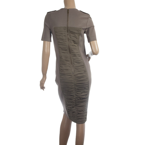 Burberry London Front Double Ruched Jersey Dress S