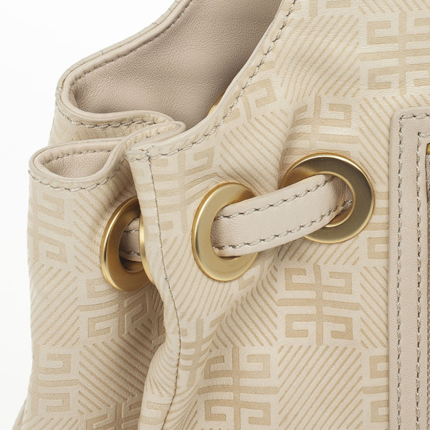 Givenchy Beige Monogram Canvas Hobo