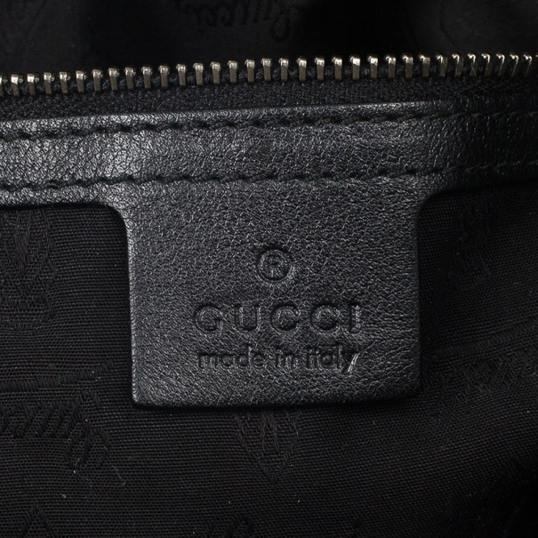 Gucci Black Leather 'Galaxy' X-Large Shoulder Bag