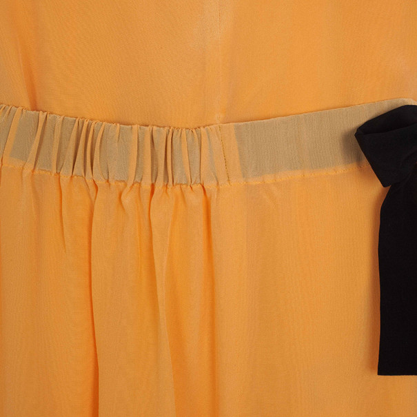 Fendi Silk Crepe Asymmetrical Dress S