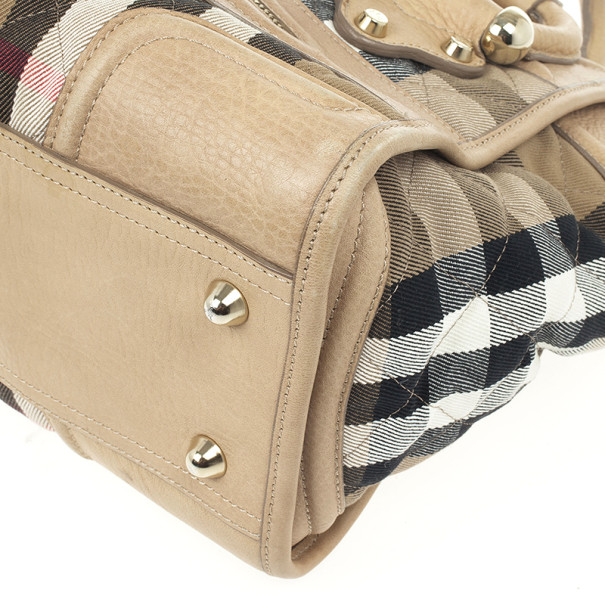 Burberry Quilted House Check Manor Satchel
