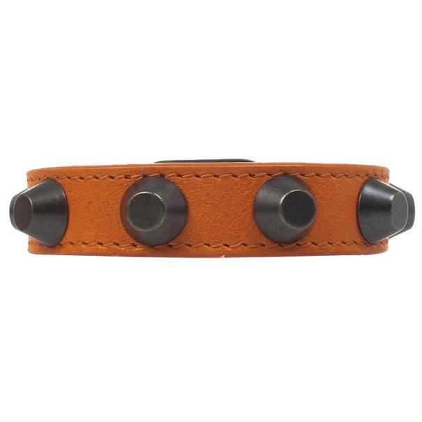 Balenciaga Classic Bracelet Studded Orange