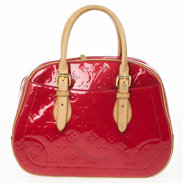 Louis Vuitton Red Monogram Vernis Summit Drive Bag