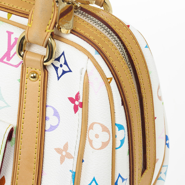 Louis Vuitton White Monogram Multicolore Canvas Priscilla Bag