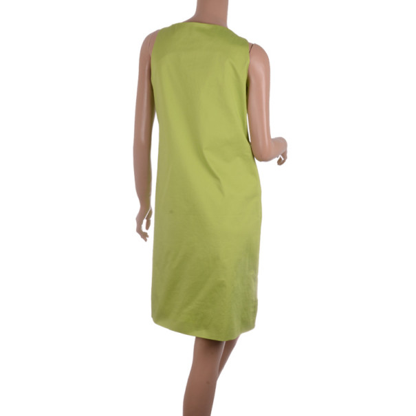 Moschino Cheap & Chic Green Shell Appliqué Sleeveless Dress M