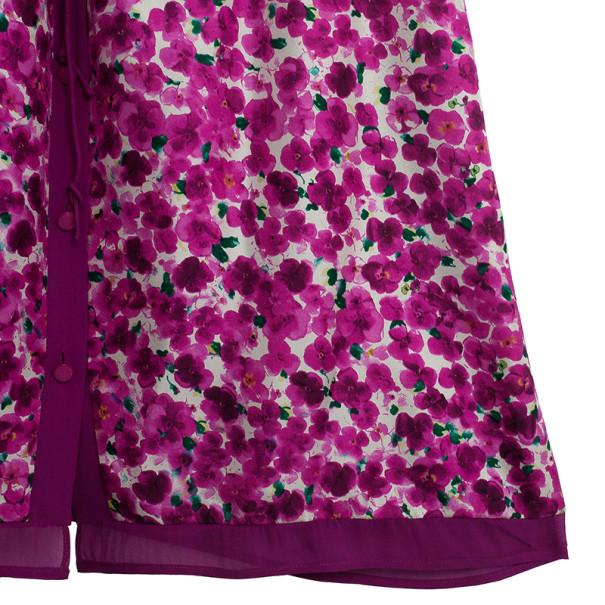Carolina Herrera Floral Print Shirt Dress L