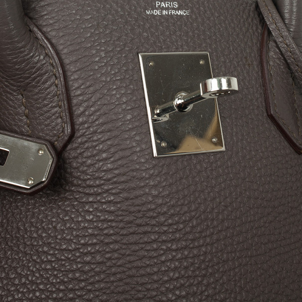 Hermes Graphite Togo Leather Birkin 30