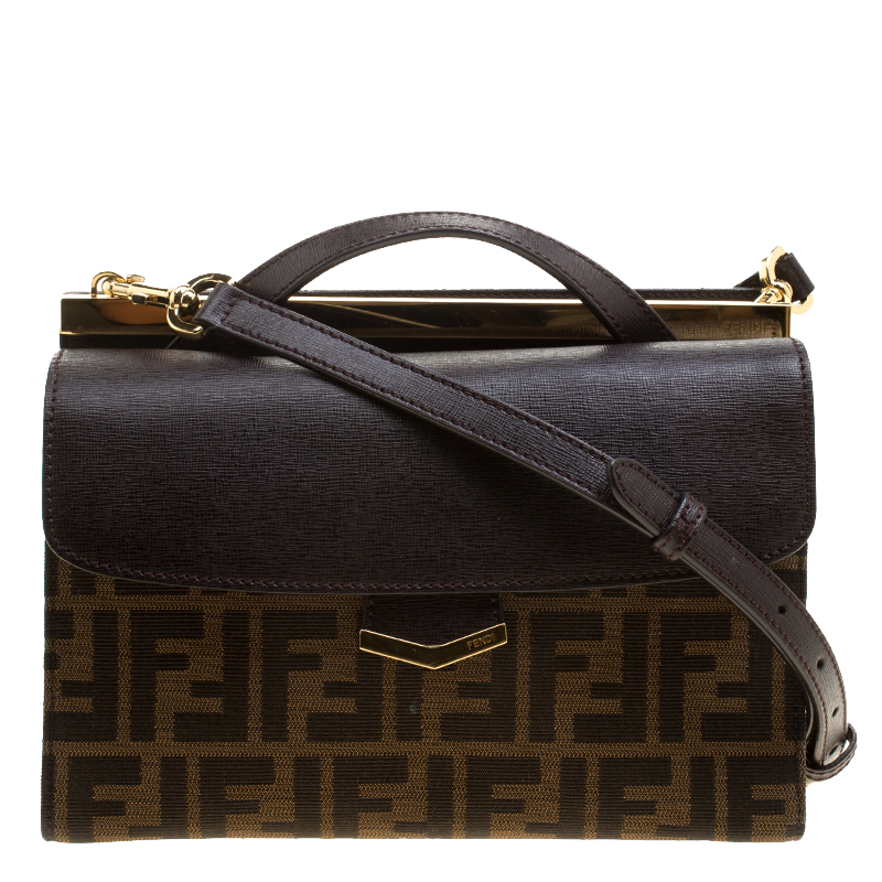 ... Fendi Tobacco Zucca Canvas and Leather Demi Jour Shoulder Bag.  nextprev. prevnext